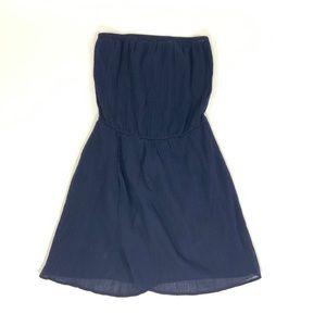 GAP NAVY BLUE PREPPY STRAPLESS SUN DRESS Small S